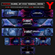 Hardcore Gaming Channel Youtube Channel Art/Video Thumbnail and Ending Video Template - GraphicRiver Item for Sale