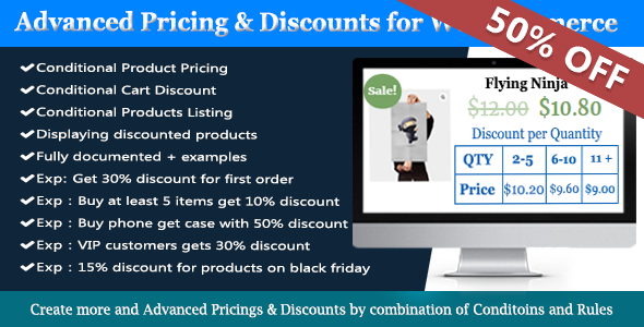 Advanced WooCommerce Dynamic Pricing & Discounts - CodeCanyon Item for Sale
