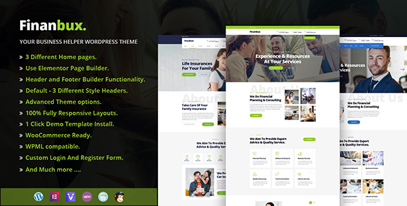 Finanbux - Elementor Business WordPress Theme - Business Corporate