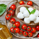 Italian cheese mozzarella with tomatoes, olive oil and herbs - PhotoDune Item for Sale