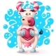 Cow Character with Heart - GraphicRiver Item for Sale