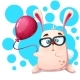 Rabbit Rhino with Balloon - GraphicRiver Item for Sale