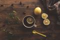 Rosehip briar tea with lemon, top view - PhotoDune Item for Sale