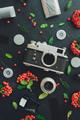 Vintage retro film camera flat lay - PhotoDune Item for Sale