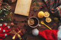 New Year and Christmas flat lay top view - PhotoDune Item for Sale