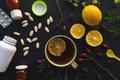 Herbal vs conventional medicine concept - PhotoDune Item for Sale