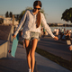 Beautiful, young girl with a skateboard in the skate park - PhotoDune Item for Sale