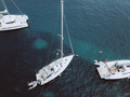 Aerial birds eye view video from drone of docked yacht - PhotoDune Item for Sale