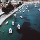 Free Download Aerial view photo of picturesque port with sailboats and yachts Nulled