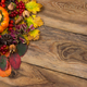Free Download Fall rustic background with acorns and viburnum Nulled