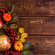 Fall decor with small pumpkins and viburnum - PhotoDune Item for Sale