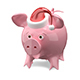 3D Illustration of a New Year Pig in a Cap - GraphicRiver Item for Sale