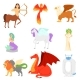 Mythological Animal Vector Mythical Creature - GraphicRiver Item for Sale