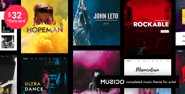 musico | music band wordpress (music and bands) Musico | Music Band WordPress (Music and Bands) 01 cover