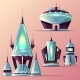 Fiction Spaceships Cartoon Vector Collection - GraphicRiver Item for Sale