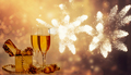 Glasses of champagne on holiday background - PhotoDune Item for Sale