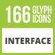 Free Download 166 Interface Glyph Inverted Icons Nulled