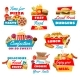 Fast Food Icons with Street Meals - GraphicRiver Item for Sale