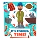 Fishing Time Fisher Man Lures and Tackles Cartoon - GraphicRiver Item for Sale