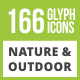 Free Download 166 Nature & Outdoor Glyph Inverted Icons Nulled