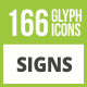 166 Sign Glyph Inverted Icons - GraphicRiver Item for Sale