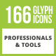 166 Professionals & their tools Glyph Inverted Icons - GraphicRiver Item for Sale