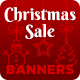Christmas Sale - HTML5 Banners with Animated Snow and Live Countdown (GWD) - CodeCanyon Item for Sale