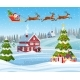 House in Snowy Christmas Landscape - GraphicRiver Item for Sale