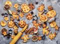 Christmas cookie on slate background - PhotoDune Item for Sale