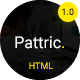 Pattric - Personal Portfolio HTML5/Bootstrap4 Template - ThemeForest Item for Sale