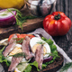 Sandwich with anchovy on table - PhotoDune Item for Sale