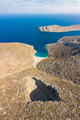 Bird's eye view of Sikati cave and coast nearby, Kalymnos island - PhotoDune Item for Sale