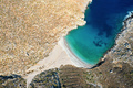 Bird's eye view of bay with beautiful beach near Sikati cave - PhotoDune Item for Sale