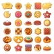 Biscuit Cookies Icons Set - GraphicRiver Item for Sale