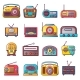 Radio Music Old Device Icons Set - GraphicRiver Item for Sale