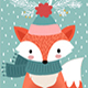 Christmas Card With Animals - GraphicRiver Item for Sale