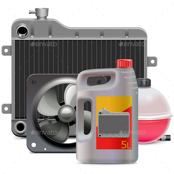 Vector Engine Cooling System Parts with Antifreeze - Industries Business