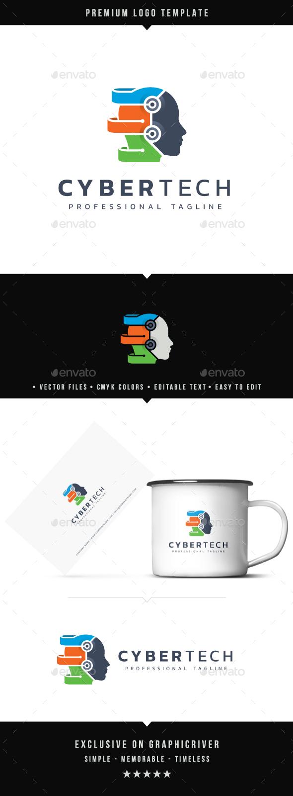 Cyber Tech Logo - Humans Logo Templates