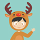 Kids Wearing Christmas Costumes - GraphicRiver Item for Sale