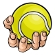 Hand Holding Tennis Ball - GraphicRiver Item for Sale