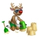 Free Download Santas Reindeer in Shades Sunglasses on the Beach Nulled