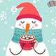 Christmas Set With Snowmen - GraphicRiver Item for Sale