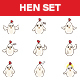 Cartoon Hen Stickers - GraphicRiver Item for Sale