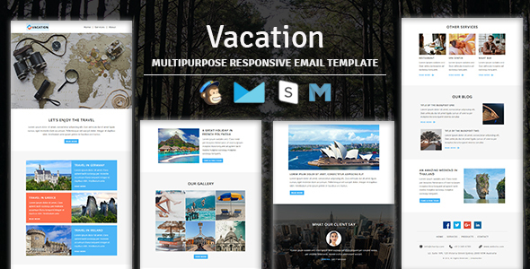 Vacation - Multipurpose Responsive Email Template With Stampready Builder & Mailchimp Access