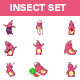 Cartoon Insect Stickers - GraphicRiver Item for Sale
