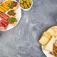 Italian antipasti wine snacks set. Antipasto catering platter - PhotoDune Item for Sale