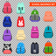 School Backpacks Transparent Collection - GraphicRiver Item for Sale