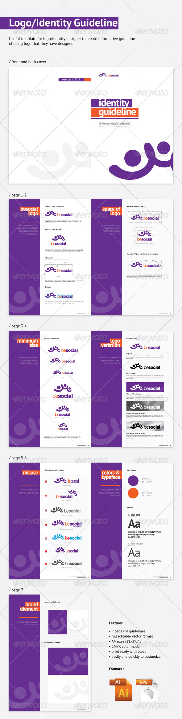 Logo / Identity Guideline - Miscellaneous Print Templates