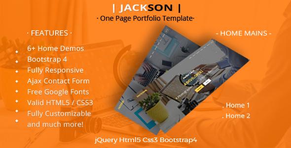Jackson - Creative Multipurpose HTML Template - Portfolio Creative