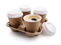 Coffee take out disposable cups in holder - PhotoDune Item for Sale